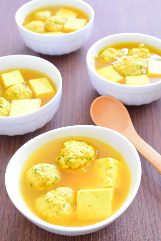 大葉入り肉団子のカレースープのレシピ