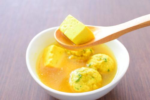大葉入り肉団子のカレースープのレシピの写真