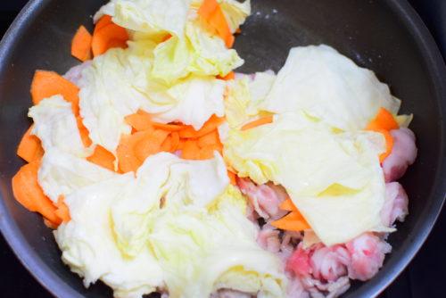 にんじんスライスの回鍋肉のレシピの写真