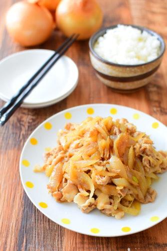 美味しいタレ!玉ねぎと豚バラの生姜焼きのレシピの写真