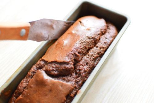 白砂糖は使わない!豆腐ココアケーキのココアクリームがけレシピの写真