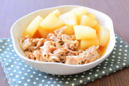 フライパンで簡単!豚バラ大根のピリ辛煮のレシピの写真