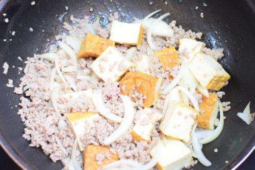 ご飯が進む!厚揚げ肉そぼろのレシピの写真