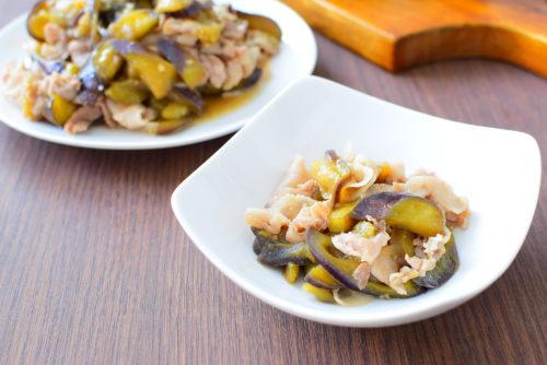 しんなりなすの豚バラオイスターソース炒めのレシピの写真