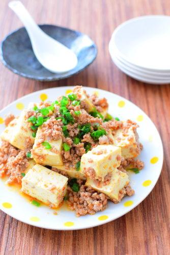 ご飯と相性抜群!ピリ辛!ひき肉豆腐のレシピの写真