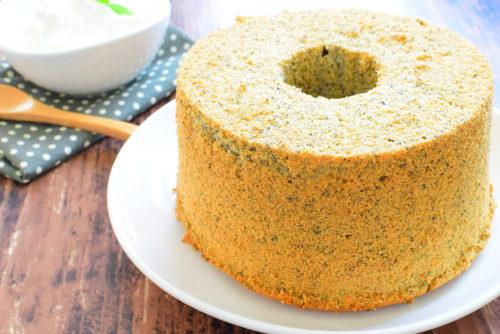 ベーキングパウダー不要!しっとり!黒ごまシフォンケーキのレシピの写真