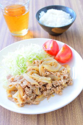 オイスターソースで作る!豚バラ生姜焼きのレシピの写真