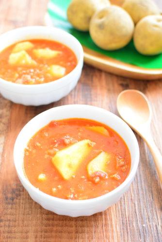 ミートソースのリメイク!じゃがいもスープのレシピの写真