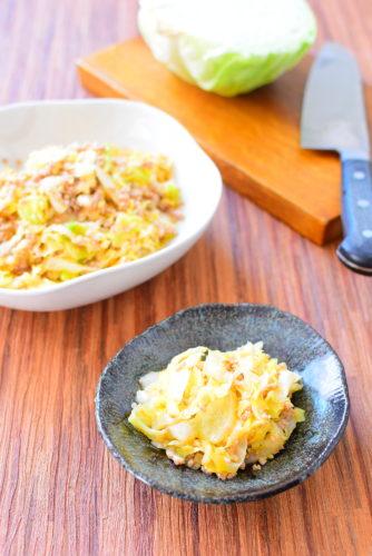 ご飯が進む!キャベツとひき肉のピリ辛炒めのレシピの写真