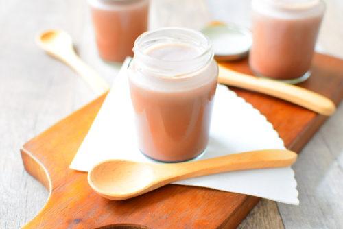 オーブンいらず!ゼラチンで作る黒糖ミルクココアプリンのレシピの写真