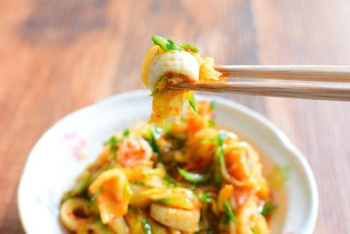 キムチ漬けちくわきゅうりのレシピの写真