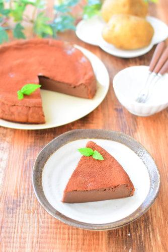白砂糖不使用!じゃがいもココアケーキのレシピの写真