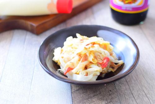 キャベツとカニカマのオイマヨ炒めのレシピの写真