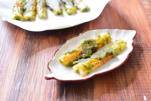 一味唐辛子でピリ辛!ちくわの磯辺焼きのレシピの写真