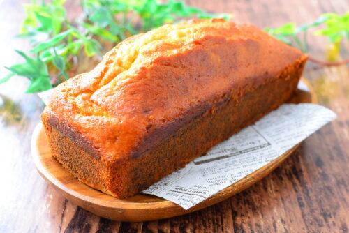 ホットケーキミックスで作るバターなし!バナナパウンドケーキのレシピの写真