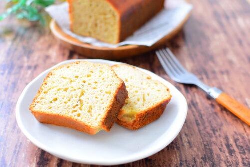 ホット ケーキミックスで作るバターなし!バナナパウンドケーキのレシピの写真