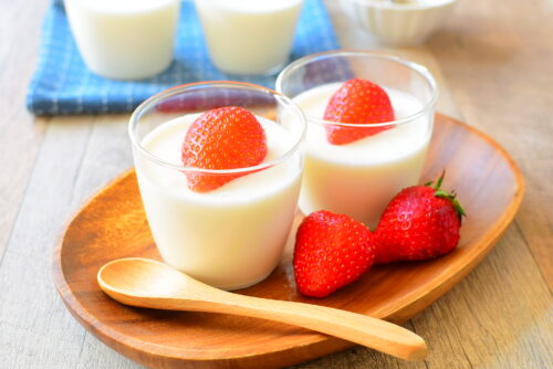 ふわふわなめらかヨーグルトミルクムースのレシピの写真