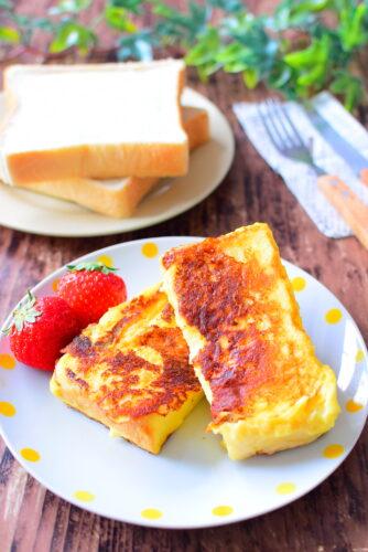 牛乳なし!バニラアイスに浸す!フレンチトーストのレシピの写真