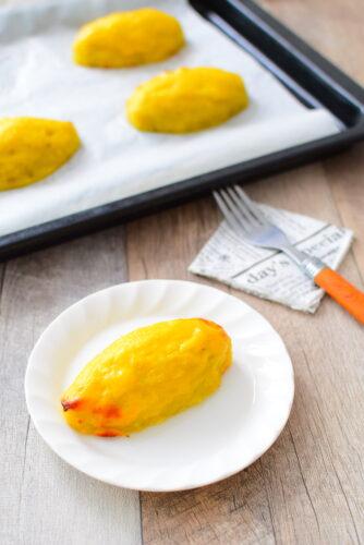 オーブンで焼く簡単スイートポテトのレシピの写真