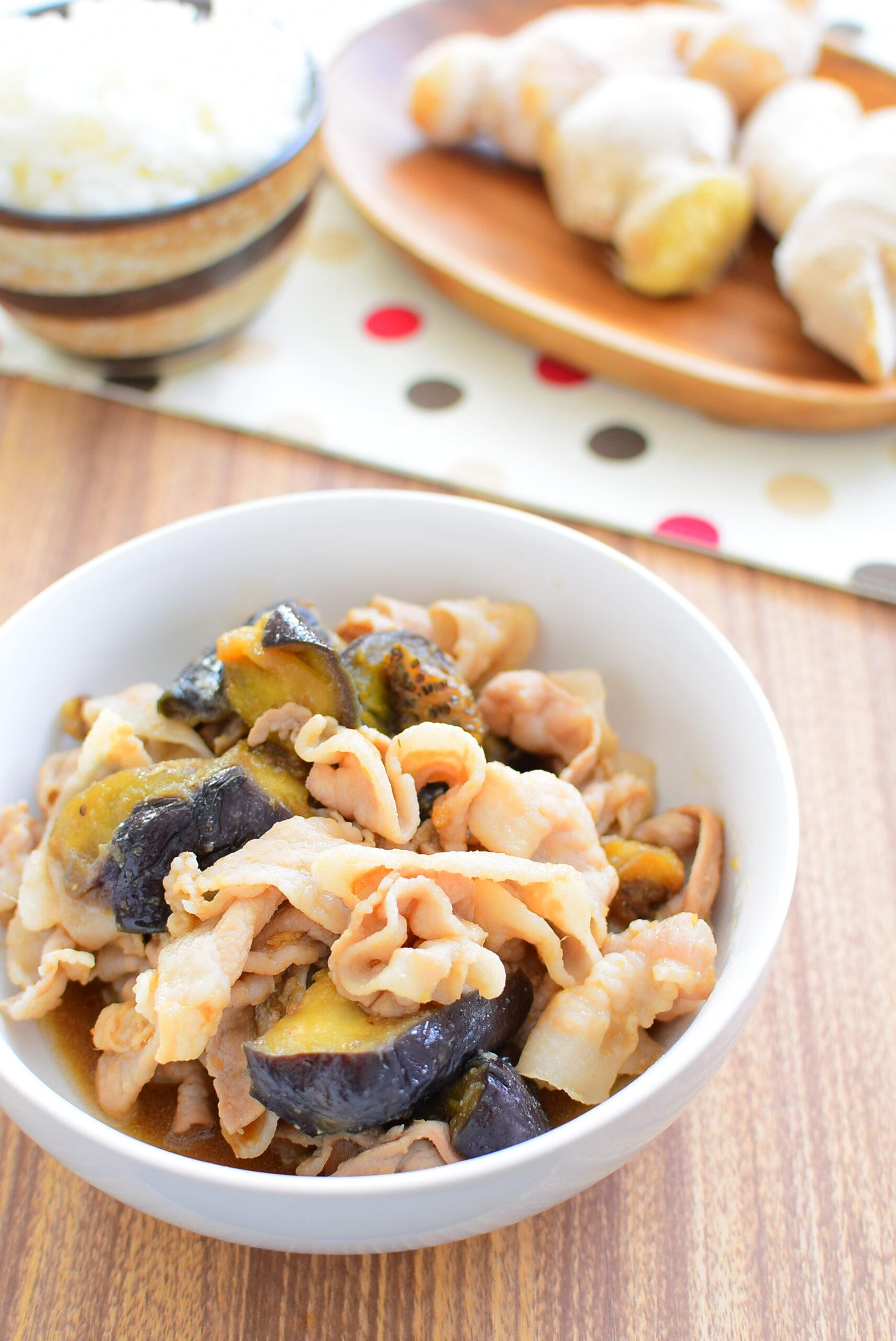 なすと豚の柔らか生姜焼きのレシピの写真