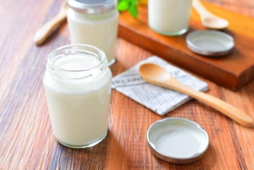 飲むヨーグルト入りミルクプリンのレシピの写真
