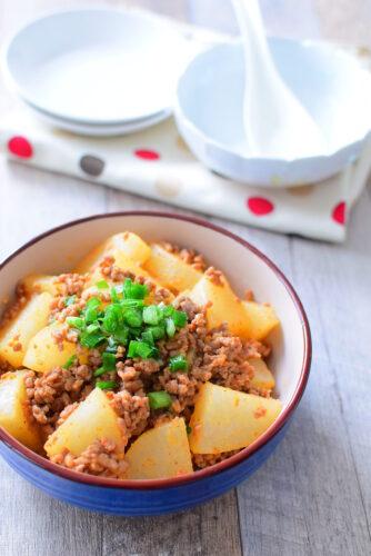 【豆板醬でピリ辛】柔らか大根みそ炒めのレシピの写真