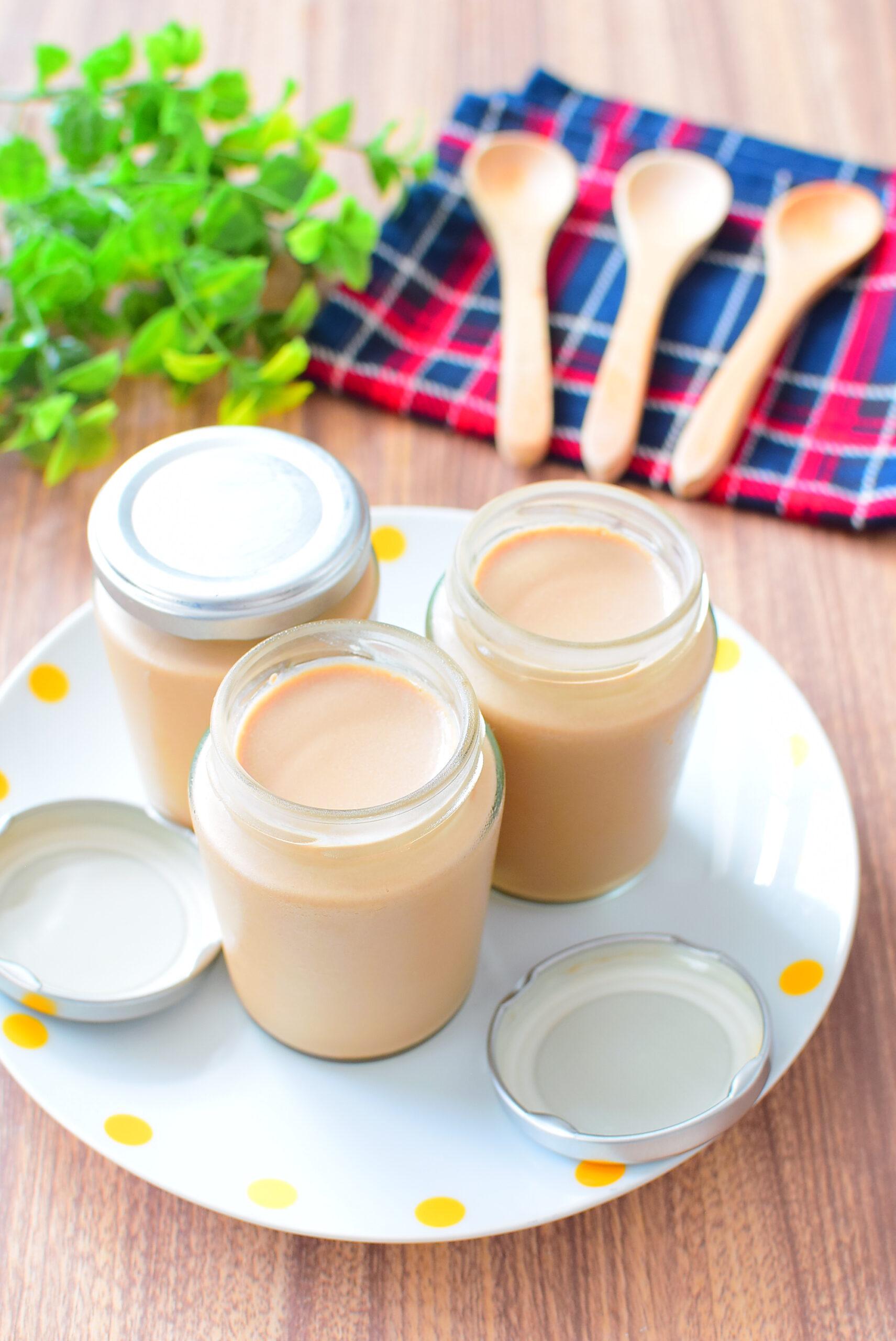 【ゼラチンで簡単】黒糖ミルクプリンのレシピの写真