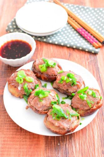 【タレも美味しい】はがれにくい!しいたけの肉詰めのレシピの写真