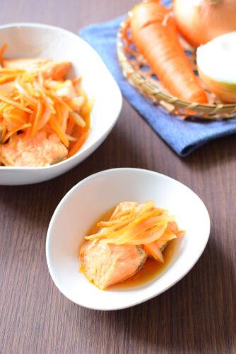 鮭は揚げない簡単、南蛮漬けの写真レシピの写真
