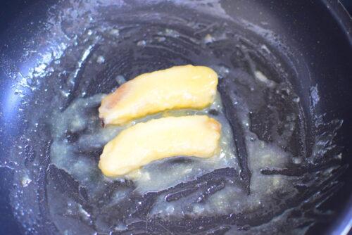 【はちみつ使用】焼きバナナのレシピの写真