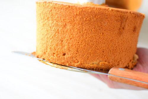 【白砂糖不使用】はちみつ入りシフォンケーキのレシピの写真